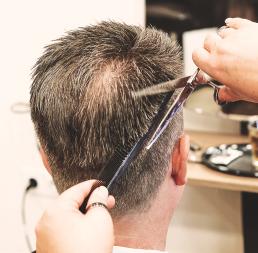 talking heads essen the hairdressers Mann Bart Rasur